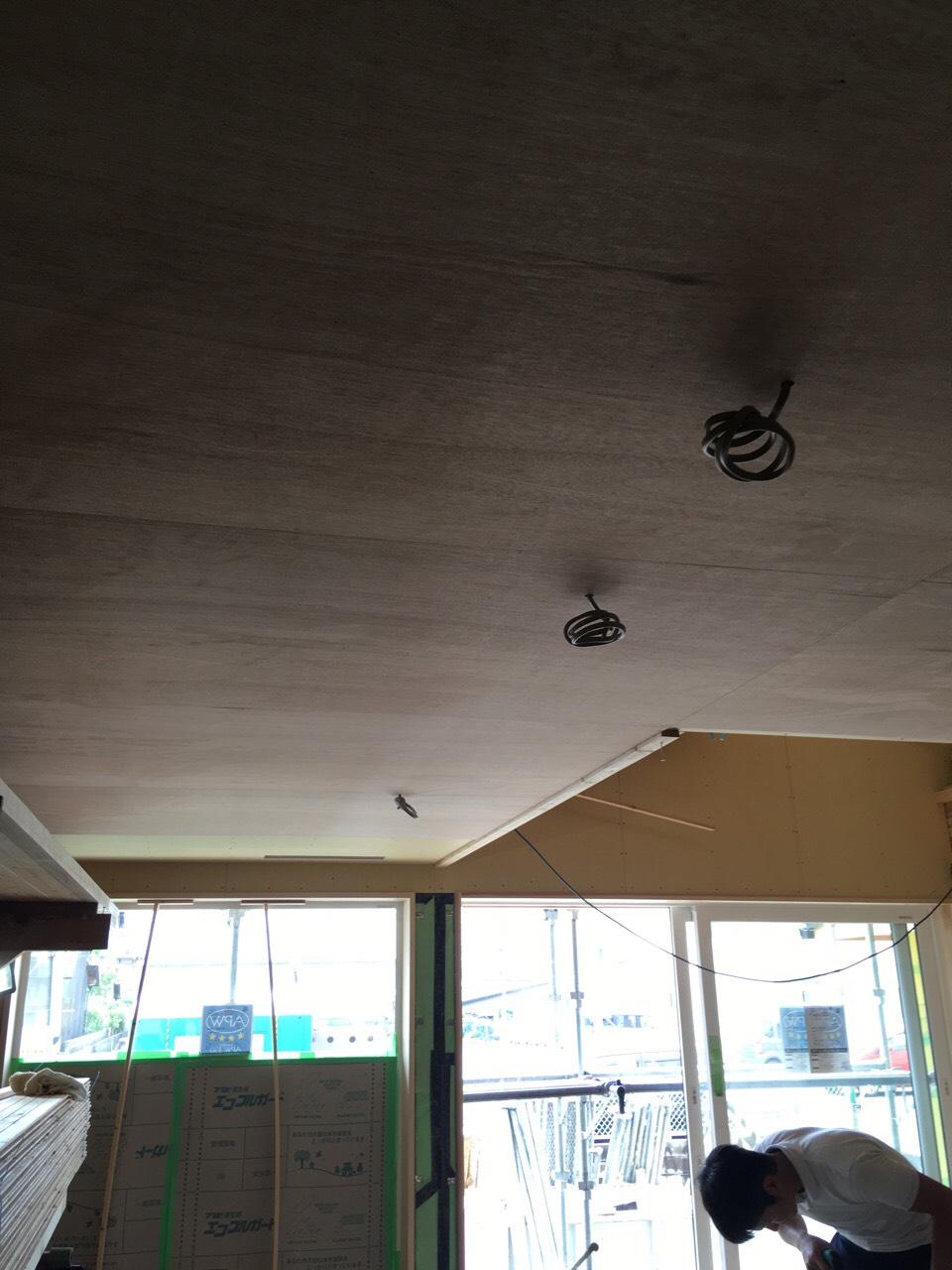 田原本町の家、内装工事・天井